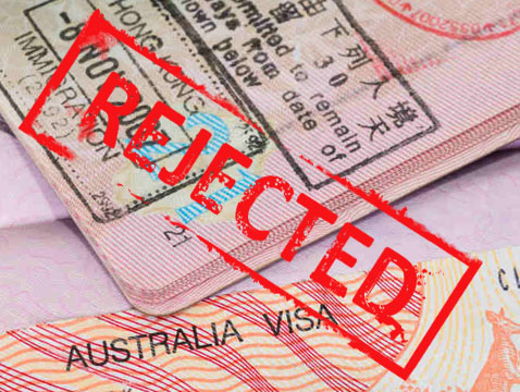 Rejected Australian visa